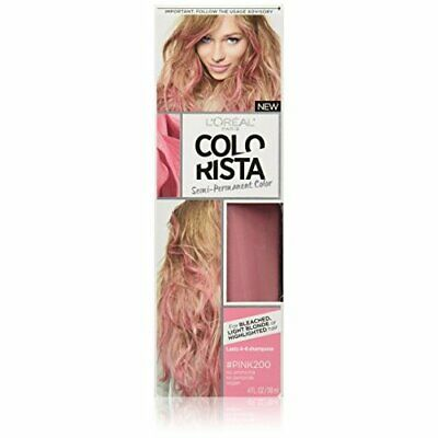 L'Oreal Paris Colorista Semi-Permanent Hair Colour For Blonde Hair, Pink, 4oz • 10.66£