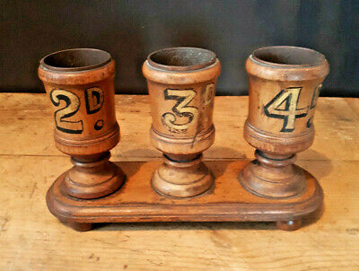 A Rare 19th Century Wooden Shop Counter Display With Gilded Prices. • 220£