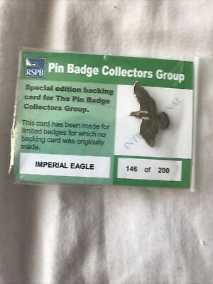 Rspb Pin Badge Imperial Eagle Pin Badge Collectors Group • 45£