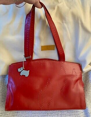 Large Vintage *RADLEY* Red Leather Briefcase Laptop Work Shoulder Bag • 29.99£
