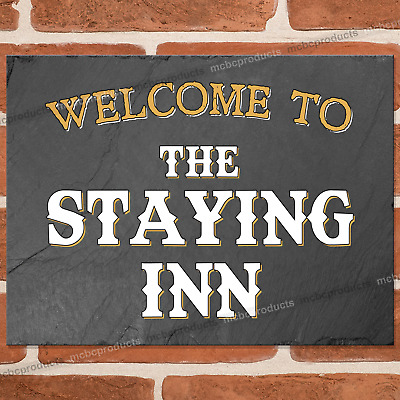 £6.95 • Buy THE STAYING INN Metal Signs Funny Pub Bar Wall Mancave Retro Plaque Tin Sign UK