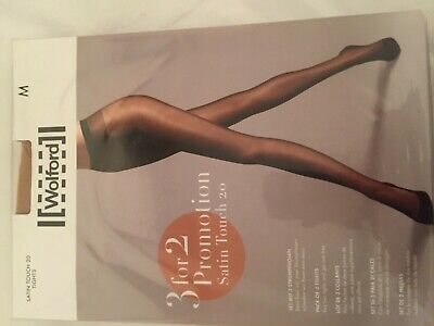 Wolford Satin Touch 20 Tights  3 For 2 Promotion Pack M Cosmetic Perfect Conditi • 16£