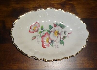 Crown Devon Vintage Small China Dish Wild Roses Great Condition • 3.99£