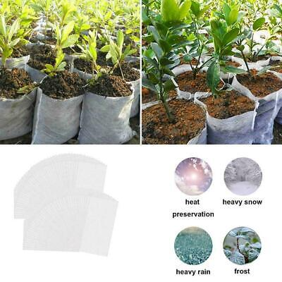 100Pack Biodegradable Non-Woven Bags Plant Growing Bag Seedling Nursery V8F4 • 2.37£