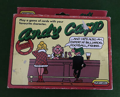 ANDY CAPP CARD GAME By SPEARS 1990 - COMPLETE • 5£