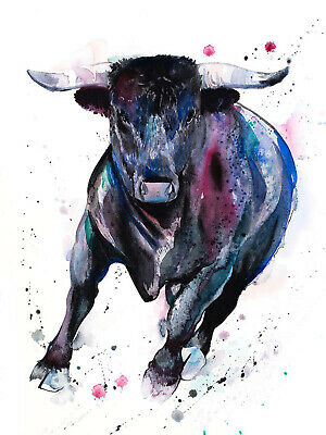 £4.99 • Buy Bull Graphic Print Fashion Poster Home Interior Wall Art Picture Decoration A4