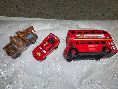 $ CDN6.38 • Buy Disney Pixar Cars 2 Double Decker London Bus Diecast 1:55 Scale (LOT OF 3)
