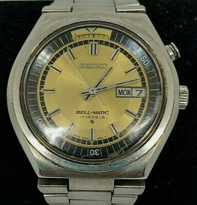 $ CDN126.34 • Buy Seiko Bell-Matic Alarm 4006 6061 Automatic Watch Vintage Golden Dial Day-Date