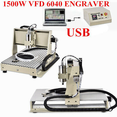 AU1237 • Buy 3 Axis 6040 CNC Router Engraver USB1.5KW VFD Milling Carving Engaving Machine