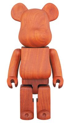 $3790 • Buy Bearbrick 400% Karimoku Padauk 2017 _ Wooden