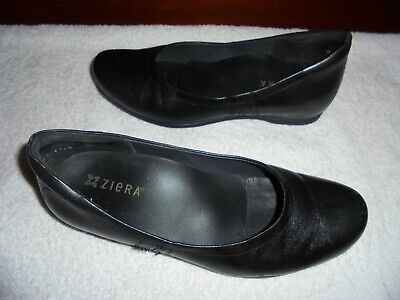 AU40 • Buy Ziera Ladies Black Leather Flat Shoes Size 40  9 Ex Condition