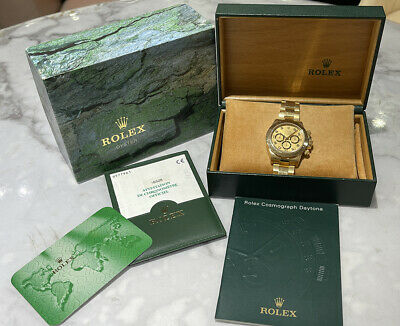 $ CDN51138.10 • Buy Rolex 16528G Daytona Zenith 18k Yellow Gold Champagne Serti Dial Watch