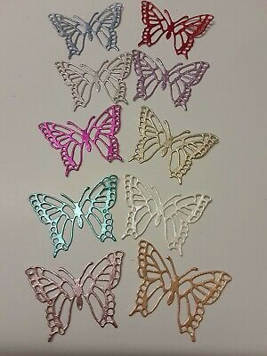10 Butterfly Die Cut Shapes For Card Making,scrapbook, Toppers, Embellishments • 0.99£