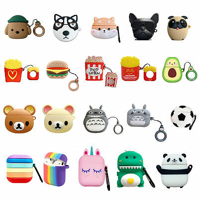 £3.99 • Buy 3D Animals Unicorn Silicone Soft Earphone Case Cover For Apple Airpods 1 2 Pro