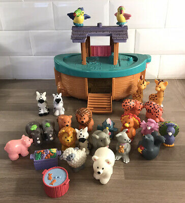 Fisher Price Little People Noah's Ark With 26 Animals, Figures & Extras • 19.99£