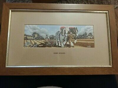 Cash's Silk Picture Shire Horses (No 1) Framed And Glazed • 12£