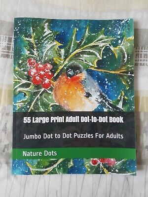 Large Print Adult Dot-to-Dot Book 55 Pages • 3.50£