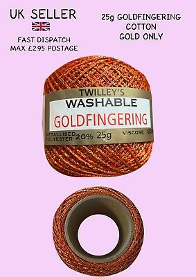 £2.50 • Buy Twilley's Goldfingering 25g Cotton *NEW* Gold Only. Craft. Crochet. Hair Braid