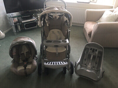 Graco Ziggy Zebra Travel System Pushchair And Car Seat Excellent Condition • 45£