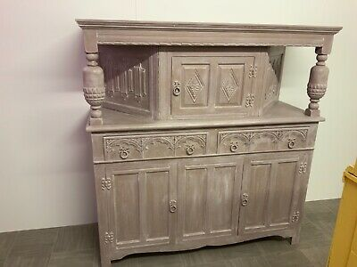 Vintage Sideboard French Style Shabby Coco Annie Sloan Chalk Paint & White Wax • 122£
