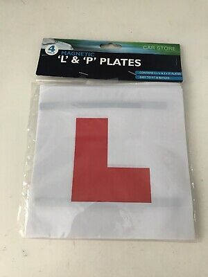 Magnetic 'L' & 'P' Plates - New • 2£