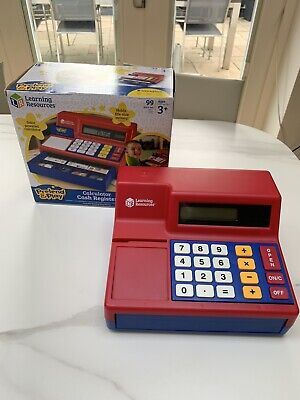 Learning Resources Calculator Cash Register - With Money, Credit Cards In Box • 19.95£