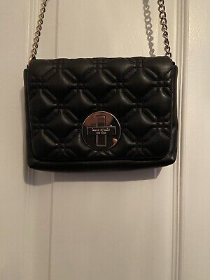 $ CDN45 • Buy Kate Spade Black Quilted Leather Purse. Preowned In Excellent Condition