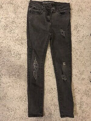 Next Ripped Sequin Skinny Jeans Size 8 • 1.40£