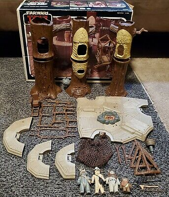 $ CDN77.20 • Buy Vintage Star Wars EWOK VILLAGE ROTJ Complete With Box 1983 Kenner Original