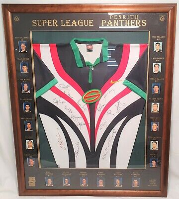 AU799 • Buy Nrl Panthers Memorabilia Super League Framed Signed Jersey 1997