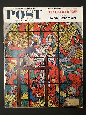 $ CDN25.51 • Buy Saturday Evening Post 1960 April 16 WESTMINSTER ABBEY BY NORMAN ROCKWELL