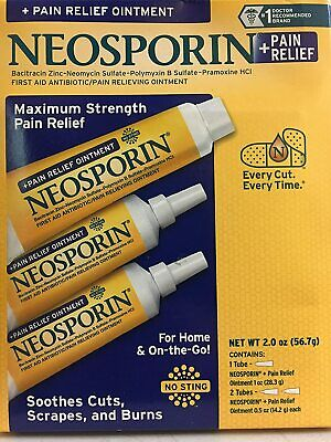 £17.36 • Buy Neosporin Pain Relief Ointment Maximum Strength 2 Oz Total
