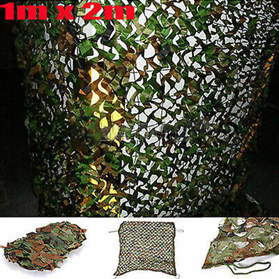 £6.61 • Buy 1m X 2m Woodland Camouflage Camo Net Netting Cover Hunting Camping Shooting Hide