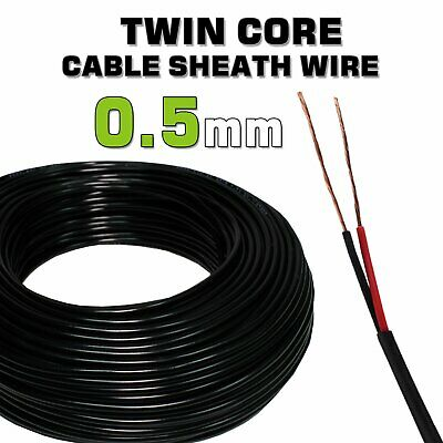 AU22.99 • Buy 10M Twin Core Cable 0.5MM²Gauge Dual Electrical PVC Wire Sheath 20AWG Car Audio