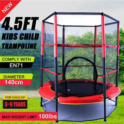 AU93.89 • Buy 55  Mini Trampoline 4.5ft Exercise Jumping Trampoline Indoor/ Outdoor Kids Toy