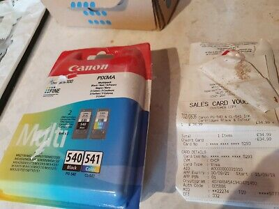 Canon Pg-540 Cl-541 Ink Cartridges Black Colour Brand New In Box • 21£