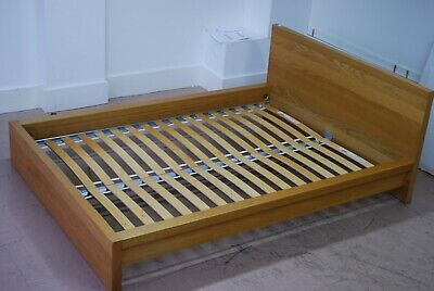 Ikea Malm Euro Double Bed Frame, Pine Effect, Ref: BX0016 • 65£