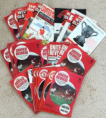 Manchester United  FOOTBALL PROGRAMMES X 45 Generally VG Or Better 1970s   • 14.99£