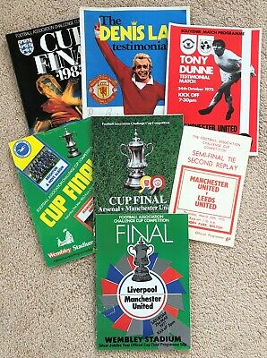 Manchester United  Cup And Benefit PROGRAMMES X 8 Generally VG Plus 1970/80s   • 16.99£