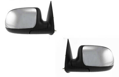 $64.95 • Buy Mirrors For Chevy Silverado Sierra 1999 2000 2001 2002 Without Heat Chrome Pair