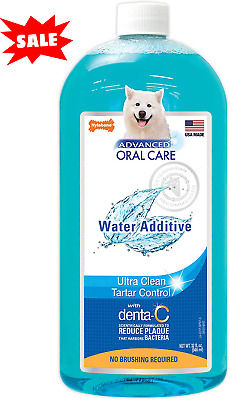 Water Additive For Pets Fresh Dog Breath Teeth Plaque Tarter Removal Dental Care • 13.33£