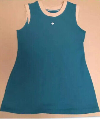 $ CDN19.99 • Buy Lululemon Woman Run Tank Top Blue White Trim Front Reflective Logo Shirt Size 6