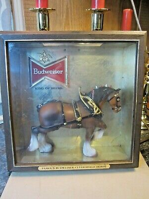 $ CDN158.95 • Buy Vintage Budweiser Clydesdale Horse Bar Lighted Sign Beer Advertising Antique Rt