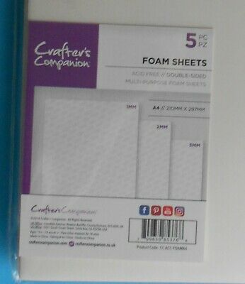£8.30 • Buy 5 Sheets Of A4 SIZE DOUBLE SIDED ADHESIVE FOAM SHEETS  As Seen TV 1,2,3mm Thick