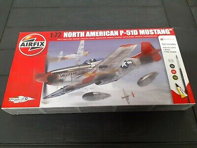 AIRFIX A01004 North American P-51D MUSTANG 1/72 Model Aircraft Kit. USAAF Sealed • 6.50£