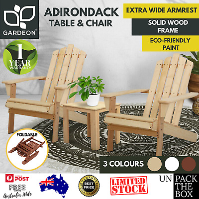 AU262.47 • Buy Outdoor Lounge Beach Chair, Pool, Table Setting, Wooden, Patio Chair, Adirondack