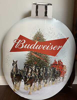 $ CDN50.62 • Buy Rare Xmas Budweiser 3-D Cardboard Sign Clydesdale Ornament Shape 27  Hanging