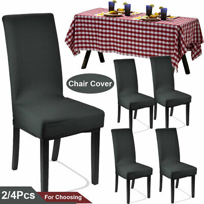 AU8.93 • Buy Stretch Dining Chair Cover Washable Removable Slipcover Office Covers 2/4Pcs