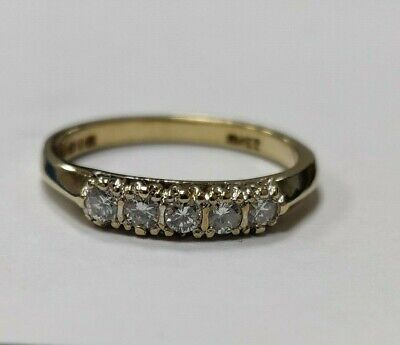 9ct Yellow Gold & Diamond Ring 2.06G - Fully Hallmarked Size:N • 105£