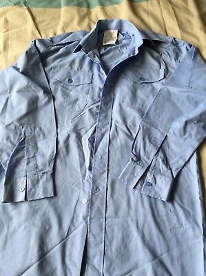 Air Cadets Light Blue Long Sleeve Shirt, 38, Used. Uniform • 3£
